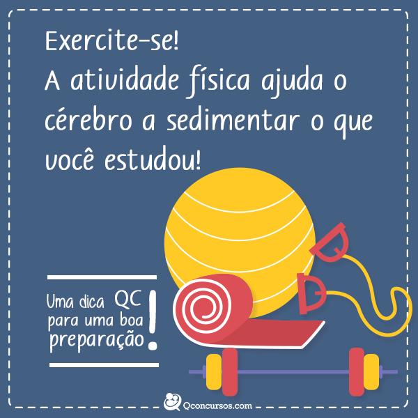 Exercite-se! A atividade física ajuda o cérebro a sedimentar o que você estudou