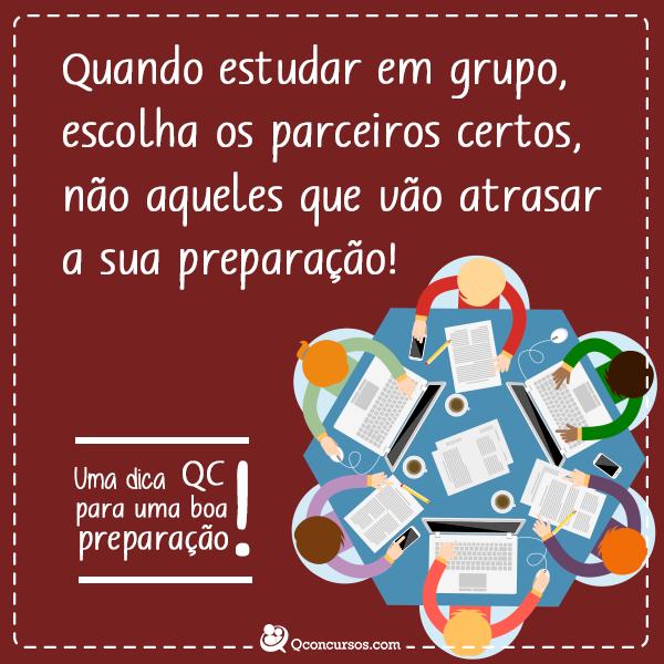 Quando estudar em grupo, escolha os parceiros certos, não aqueles que vão atrasar a sua preparação.